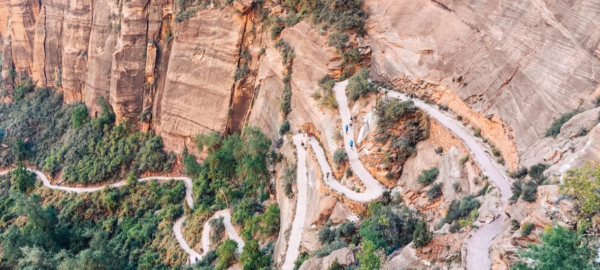Angels landing is in Utah, within the Zion National Park